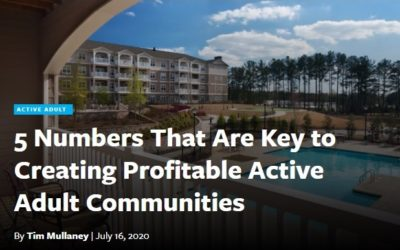 Senior Housing News: 5 Numbers That Are Key to Creating Profitable Adult Communities